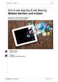 """Deutsch als Zweitsprache, Lernfeld """"Sich orientieren"""", Kerninhalte, Grundkurs, Aufbaukurs, Wissenswertes aus Medien entnehmen, Sich in Printmedien und elektronischen Medien orientieren, Wortschatzarbeit, Wortschatzerweiterung"""