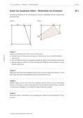 Mathematik_neu, Sekundarstufe I, Größen und Messen, Winkel, Flächeninhalt, Winkelmessung, Berechnung von Winkelgrößen, Flächeninhaltsberechnungen, Größe, Scheitelpunkt, Dreieck, Trapetz, Faltung, Seite, Schnittpunkt, Eckpunkt, Strecke