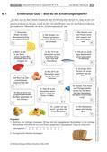 Biologie_neu, Sekundarstufe I, Der Mensch, Anatomie, Stoffwechsel, Bewegung und Gesundheit, Ernährung, Gesunde Ernährung, Gemüse, Obst, Fette, Kohlenhydrate, Kalorien, Schokolade, Gesundheit, Kreis, Salami, Gurke, Leberwurst, Öl