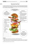 Biologie_neu, Sekundarstufe I, Der Mensch, Anatomie, Stoffwechsel, Bewegung und Gesundheit, Ernährung, Gesunde Ernährung, Gemüse, Obst, Fette, Kohlenhydrate, Kalorien, Schokolade, Gesundheit, Chips, Protein, Eier, Früchte, Fisch, Burger