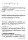 Organisation/Unterrichtsplanung