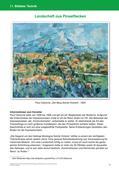 Kunst_neu, Primarstufe, Kunstbegegnung und -betrachtung, Flächiges Gestalten, Malen, Cézanne, Impressionismus, Farbpalette, Berg, Sainte-Victoire