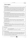 Englisch_neu, Sekundarstufe I, Lesen und Literatur, Verfügung über sprachliche Mittel, Schreiben, Texte, Lesen und Leseverstehen, Wortschatz und Idiomatik, Schreibverfahren, Literarische Gattungen, Lesetechniken, Wortschatz, Pragmatisches Schreiben, Epische Kurzformen, Detailgenaues Lesen, Themenspezifischer Wortschatz, Crime nuggets, Casual genocide, The trial of the three Piggs, Anita's big day, police, killing